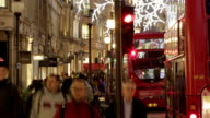 Timelapse Christmas London street  CH  URB video