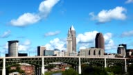 Timelapse city center of Cleveland, Ohio on a summer day video