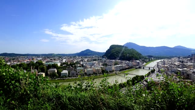 Time-lapse: City of Salzburg, Austria, in summer. video