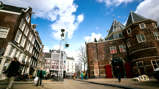 HD Time-lapse: City Pedestrian at New Market Amsterdam Netherlands video
