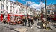 4K Time-lapse: City Pedestrian Meir shopping street Antwerp Belgium video