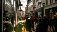 HD Time-lapse: City Pedestrian Shopping street Dam Square Amsterdam video