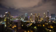4K Time-lapse: Cityscape business district in Bangkok Thailand video