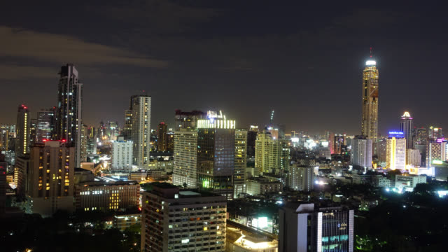 4K Time-lapse Cityscape of bangkok city in Thailand video
