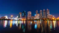 Timelapse, Cityscape with Reflection on the Water video