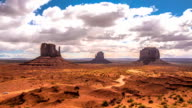 Timelapse Clouds over Monument Valley Native Park, Arizona / Utah video