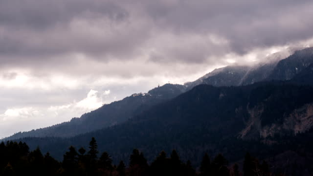 Timelapse - Clouds over Mountains video