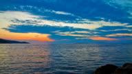 HD Time-Lapse: Cloudscape Over Sea video