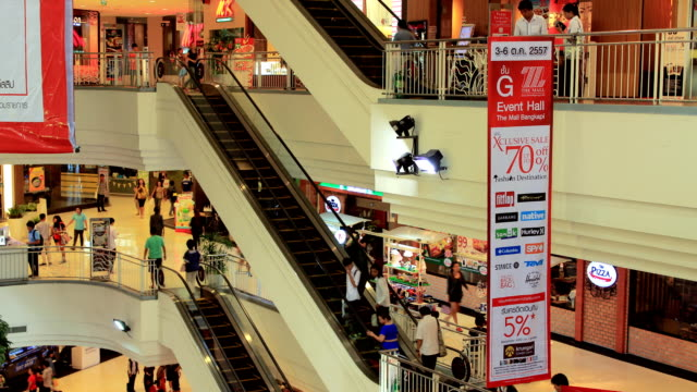 Timelapse crowd at shopping mall video