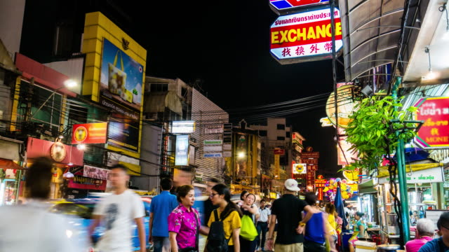 Timelapse, Crowd of people in Chinatown Bangkok Thailand video