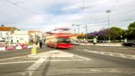 HD Time-lapse: Crowd pedestrian Lisbon City at Belem Portugal video