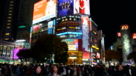HD timelapse crowd people at Shibuya video