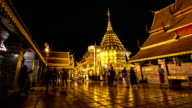 HD Time-lapse: Crowd at Phrathat doi suthep temple Chiang Mai, Thailand video