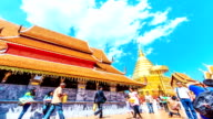 HD Time-lapse: Crowd Phrathat doi suthep temple Chiang Mai, Thailand video