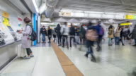 Time-lapse: Crowded at Ticket machine Shinjuku station video