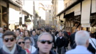 Time-lapse: Crowded of tourists at The street leading , Florence, Italy video