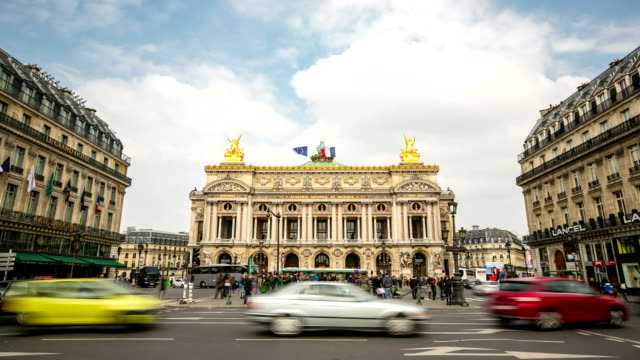 HD time-lapse: Crowded Pedestrian at Opera Paris video