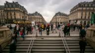 time-lapse: Crowded Pedestrian at Opera Paris video