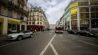 time-lapse: Crowded Pedestrian Haussmann Boulevard Opera Lafayette Paris video