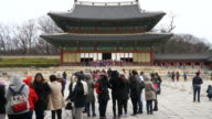 time-lapse crowded people at Changdeokgung Palace,Seoul video