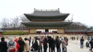 time-lapse : crowded people at Changdeokgung Palace,Seoul video