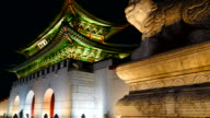 Time-Lapse - Crowded people at Gyeongbokgung Palace in Korea video