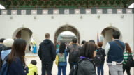 time-lapse : crowded people at Gyeongbokgung Palace,Korea video
