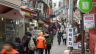 timelapse - crowded people at Hongdae Street Market ,Seoul City video