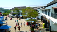 Timelapse crowded people at ngong ping village video
