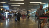 Timelapse crowded people at singapore airport video