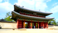 Timelapse - Crowded people in Changdeokgung Palace at Seoul city , Korea video