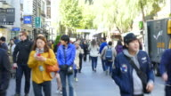 timelapse - crowded people in Insadong Market Street video