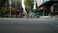HD Timelapse - Crowded people in orchard road at singapore video