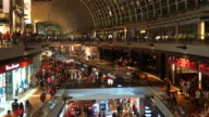 HD Timelapse - Crowded people in shopping mall at singapore video