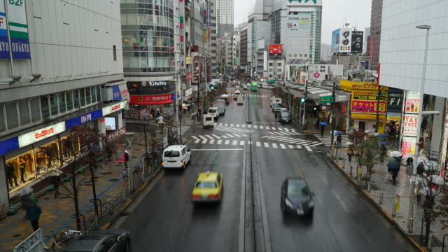 Time-lapse : Crowded people traffic in Shinjuku area at Japan video