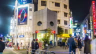 Time-lapse ZO : Crowds at Shibuya Crossing at night video