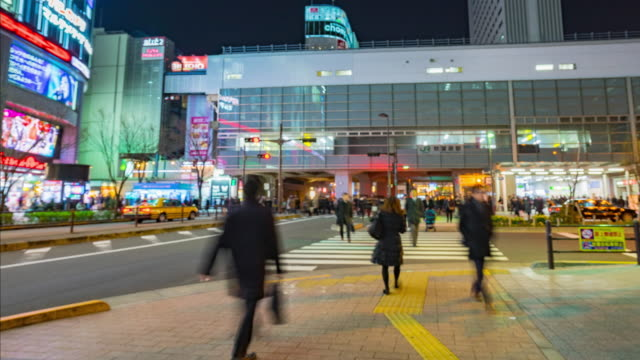 4K Time-lapse : Crowds on the road in Akihabara. video