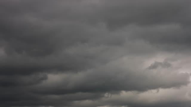 4K Timelapse Dark Storm Cloud video