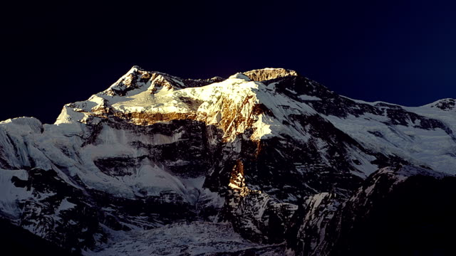Time-lapse. Dawn in the Himalayan mountains video