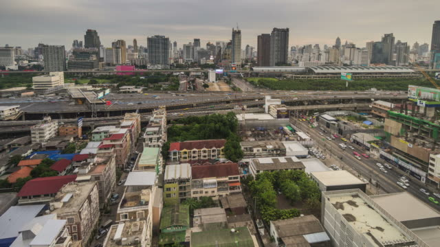HD time-lapse : Day to night city of Phra ram 9 , Bangkok , Thailand video