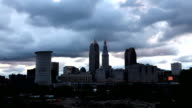 Timelapse Day to Night in Cleveland, Ohio video
