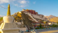 4K Timelapse Day to Night Scene of Potala Palace, Tibet, China video
