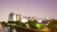 4K Timelapse Day to night: Siriraj Hospital building in Bangkok city. video