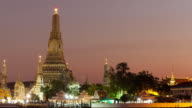 4K Time-lapse Day to night: Wat arun in evening. video