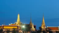4K Timelapse Day to Night: Wat Phra Kaew video