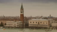 4K Timelapse Doge's palace and St. Marc's Campanile on Canale grande, Italy video