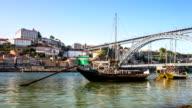 HD time-lapse: Dom Luiz bridge in Porto Cityscape Portugal video