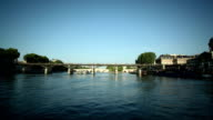 POV timelapse down the river Seine in Paris video