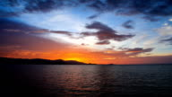 Timelapse dramatic sky background and beautiful fiery sunset video