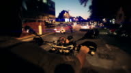 Timelapse - driving Motorcycle through a city video